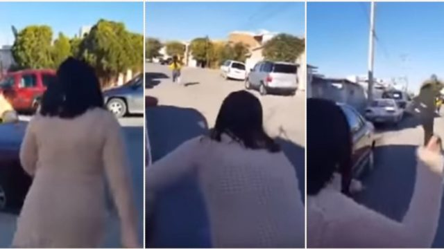 Mum nails daughter with her thong from a deadly long distance