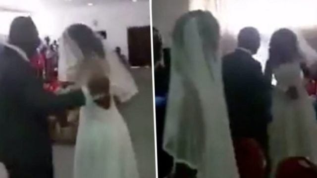 Cheating bloke's side-chick crashes his wedding dressed in full bridal gown