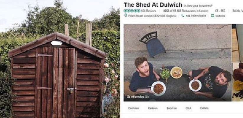 """I made my shed the top rated restaurant on Trip Advisor"""