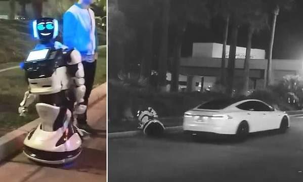 Driverless Tesla kills autonomous robot