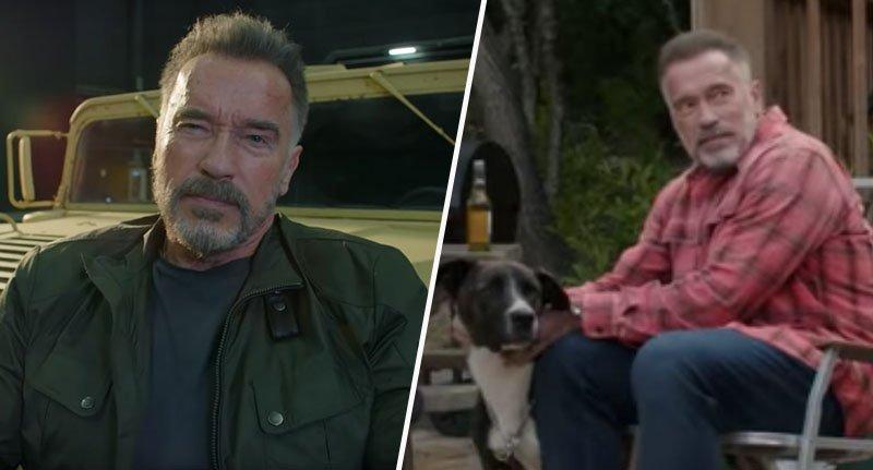 Footage of Arnie behind the scenes in new Terminator movie has been released