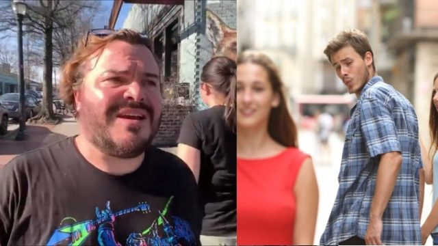 "Jack Black accidentally re-creates new ""Distracted Boyfriend"" meme"