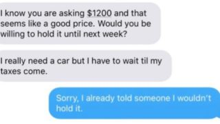 Sheila's text convo with mum who wants to buy her car goes viral for all the right reasons