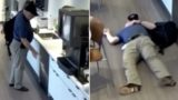 Worker caught on camera pretending to slip on ice cubes for compensation