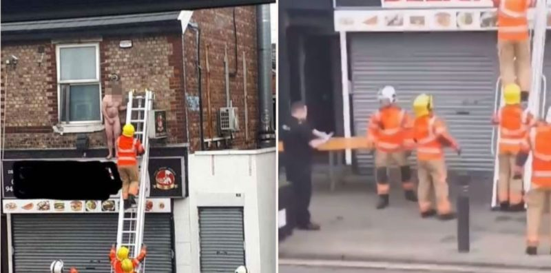 "Fireman forced to rescue ""compromised"" bloke from massage parlour window"