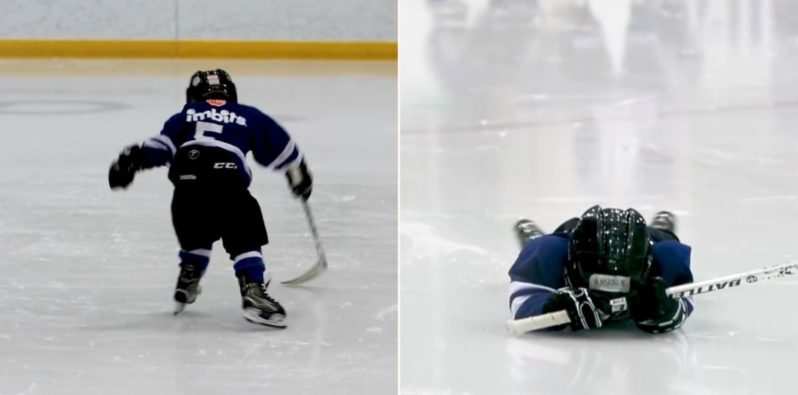 Dad mics up 4 year old son at Hockey practice to see what the f*** he does out there