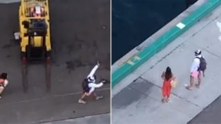 Couple watches on as cruise ship leaves them stranded in the Bahamas