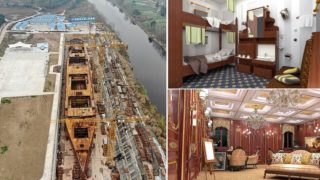 Photographs of $220 million Chinese Titanic replica is starting to come together