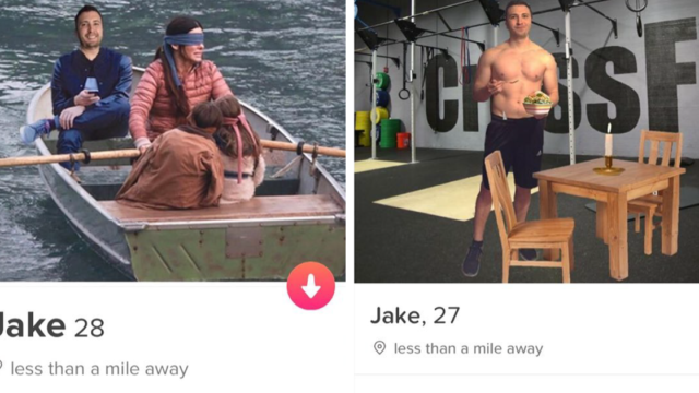 This bloke was banned from Tinder after creating 60 profiles, here's his best work