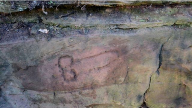 Archaelogists find 1800 year old wall carvings of cock and balls