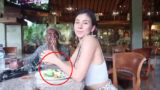 Vegan 'influencer' gets caught eating fish and awkwardly tries to hide it on camera
