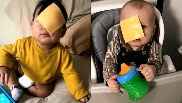 Latest online challenge: throwing cheese at babies
