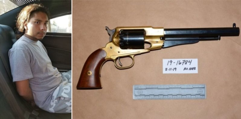 'Gangster' arrested with ancient gun from 1858 gets roasted by the internet