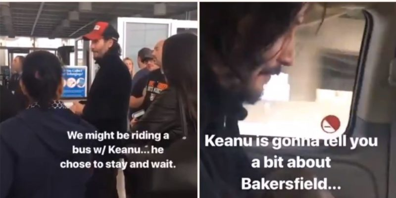 Keanu Reeves organises road trip for stranded passengers after emergency flight landing