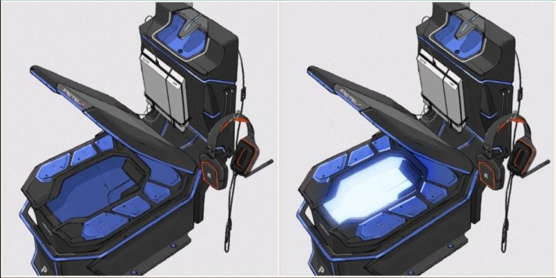 Check out this flash-as-f**k Japanese gaming toilet design