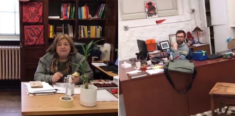 Bloke goes around calling teachers by their first name and filming their reaction