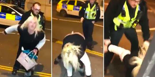 P*ssed sheila gets arrested for twerking on police officer