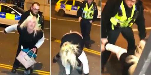P*ssed sheila gets arrested for twerking on police officer