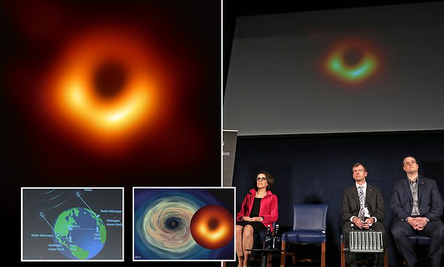 "Astronomists have just released the first image ever of an ""unseeable"" blackhole"
