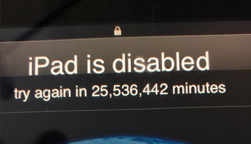 Toddler manages to lock Dad's iPad for 47 years