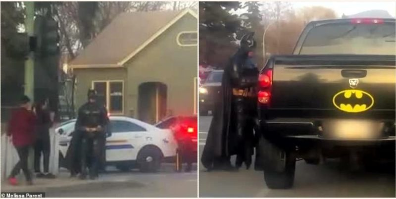 Batman turns up to a crime scene in British Columbia offering to help