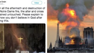 Sheila claims God spared the cross in Notre Dame fire, the Internet bloody roasted her