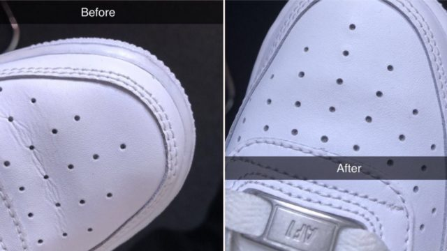 This Twitter 'life hack' explains how to get creases out of your sneakers