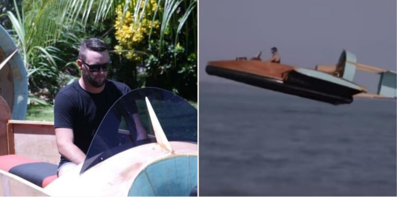 This Ozzy bloke built a f***en working hovercraft in his garage
