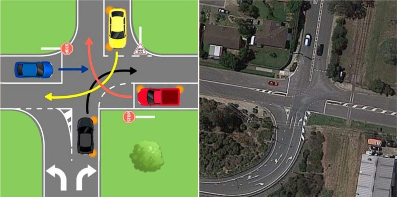 Righto, ya legends, how do ya negotiate this intersection without causing a bingle?