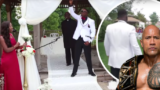 "Groom struts down the aisle to ""The Rock"" theme song at his wedding"
