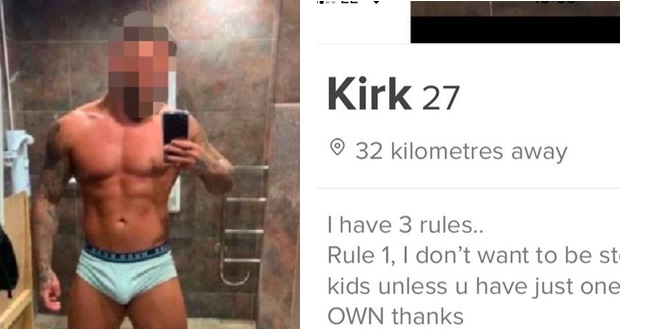 "Bodybuilder sparks outrage with his ""three rules"" in Tinder bio"