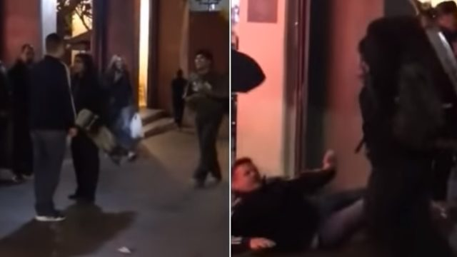 Fully grown bloke who laid hands on skater kids gets f***en dealt with
