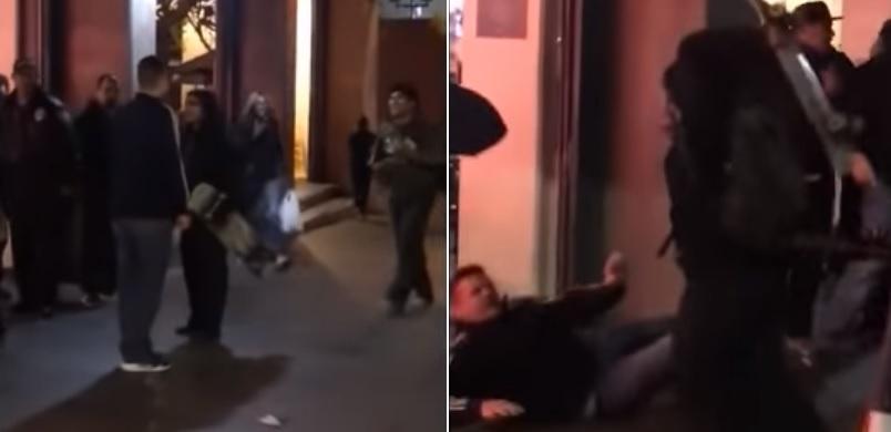 Fully grown bloke who laid hands on skater kids gets f***en dealt with