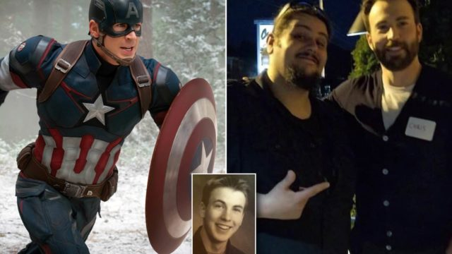 Chris 'Captain America' Evans rocked up to his high school reunion like a boss