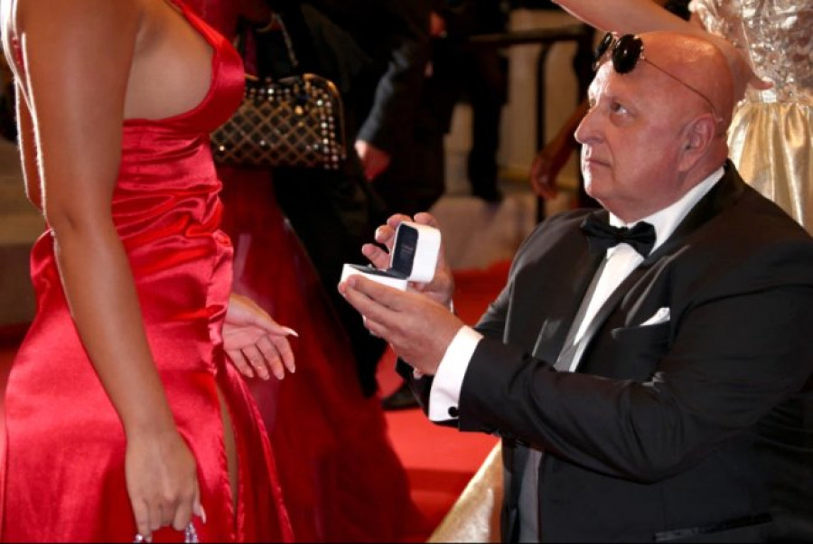 63-year-old millionaire proposes to 25-year-old reality star on red carpet at Cannes