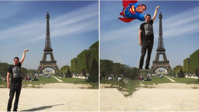 Bloke asks Internet to photoshop his Eiffel Tower pic, users respond with comedy gold