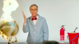 Bill Nye demonstrates how the Earth is on f***en fire
