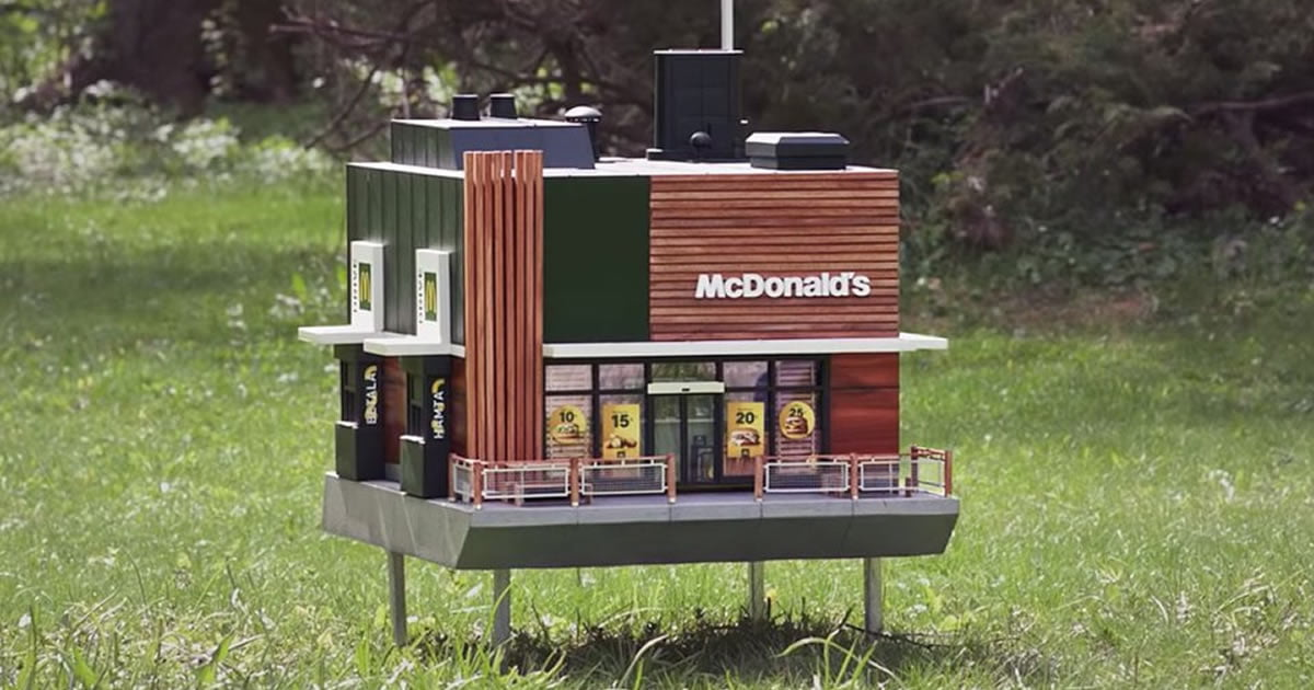 McDonald's has opened a tiny 'restaurant' for bees