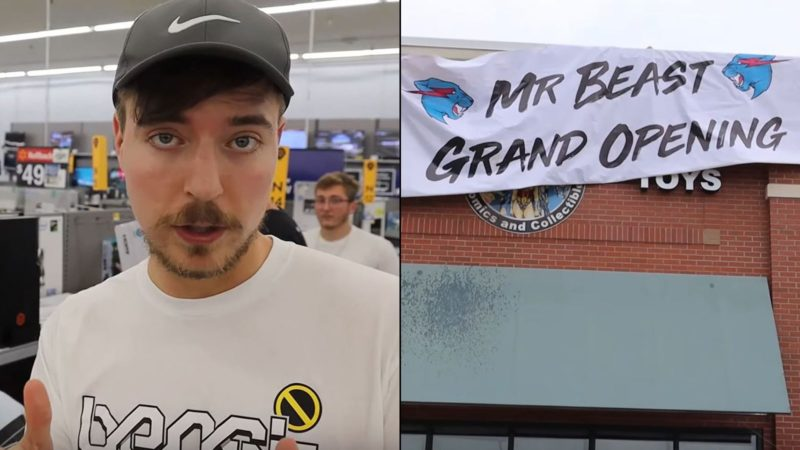 YouTuber opens world first 'Free Store' and films the grand opening