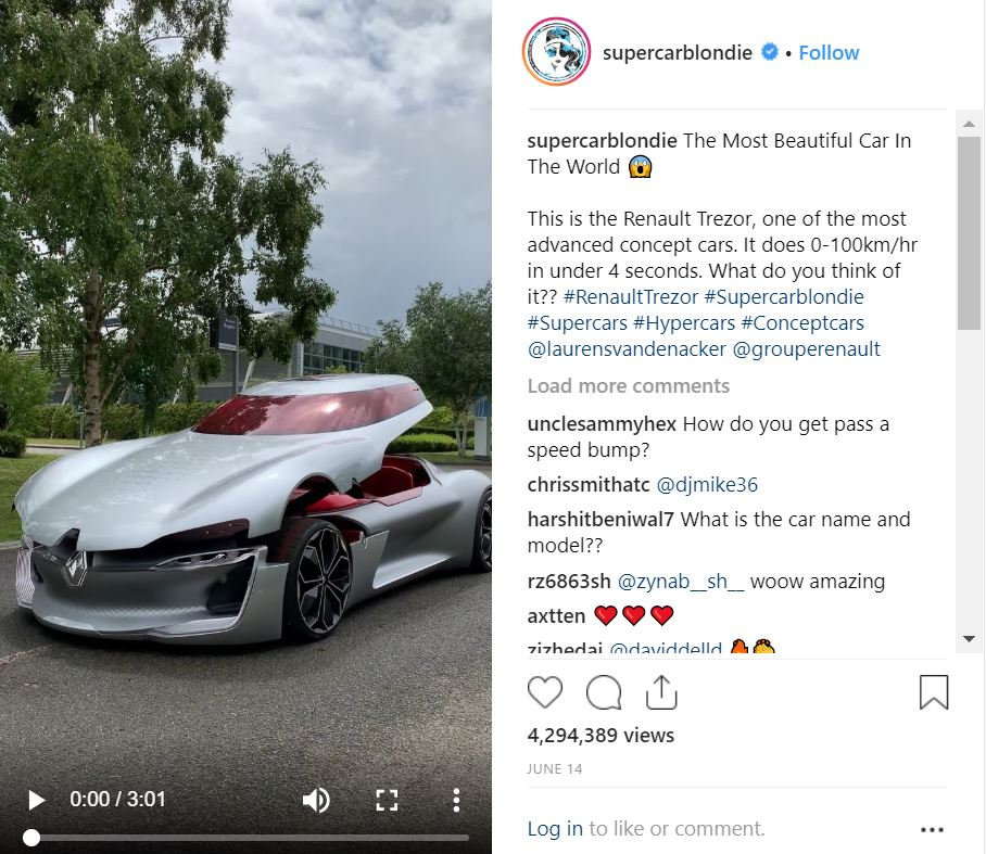 Supercar Blondie Reckons She's Found The Most Beautiful