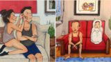 Honest illustrations depict what really happens in long term relationships