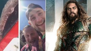 Jason Momoa goes viral calling out blokes who cut shark's tail off for a joke