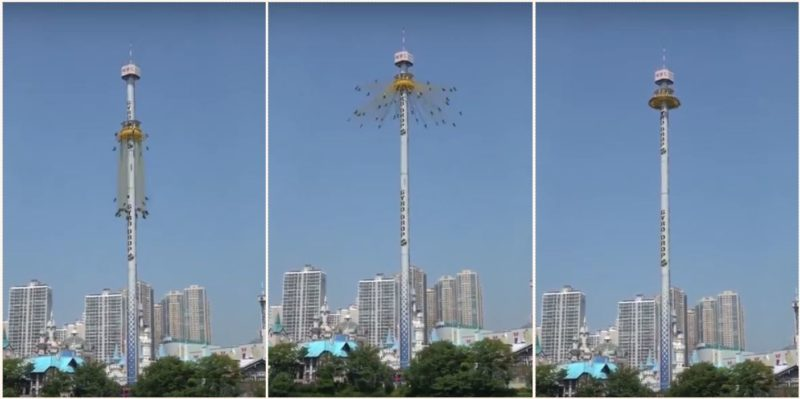 The theme park ride 'Gyro Drop' going viral right now is fake