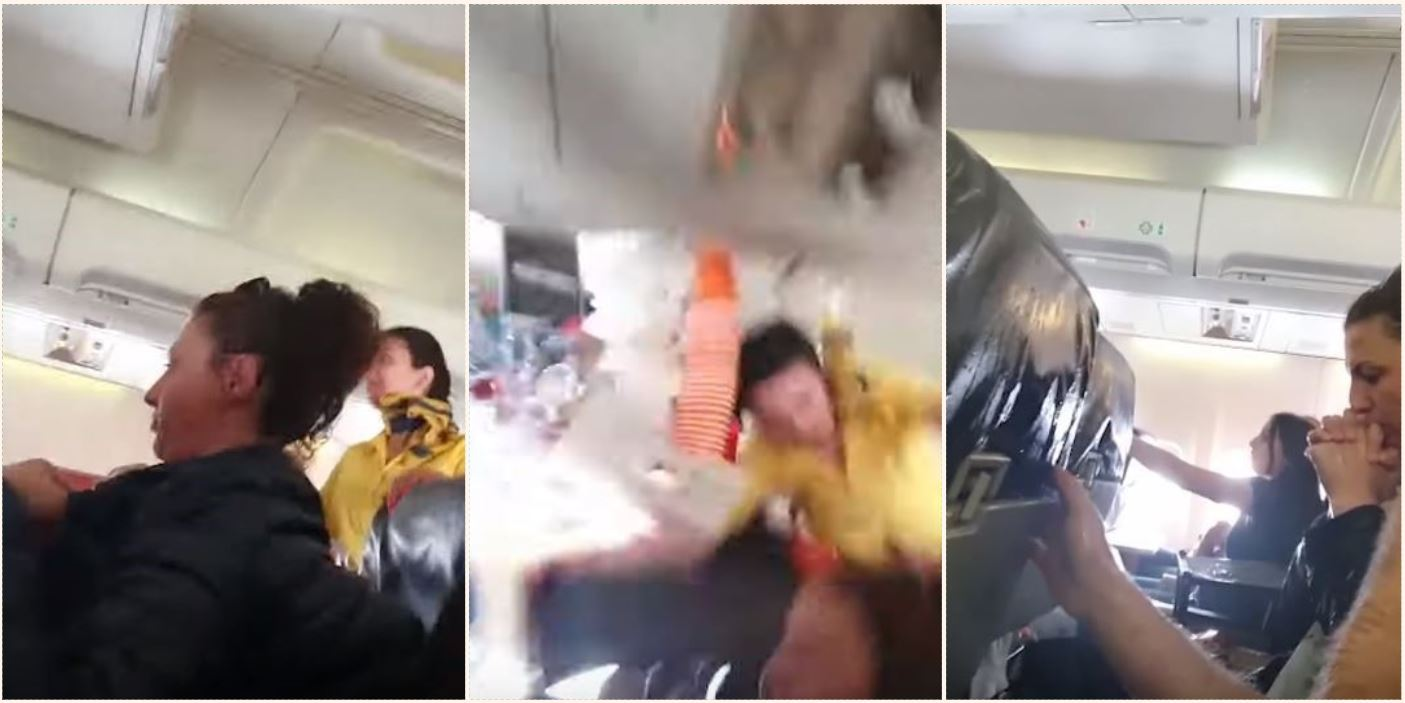 Air hostess hits plane roof during hectic turbulence