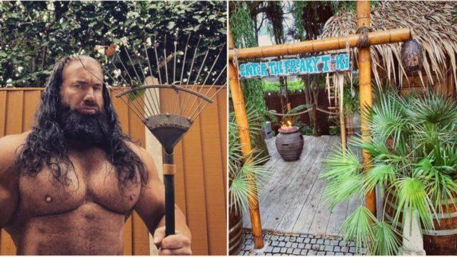 This bloke's built his wife a ridgey-didge tiki garden
