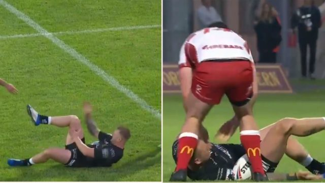 Rugby bloke slaps dislocated knee back into place, carries on playing