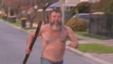 Aussie legend in underwear chases off home intruder with didgeridoo