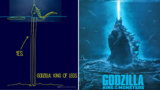Illustrator hilariously imagines how Godzilla was able to stand in the ocean