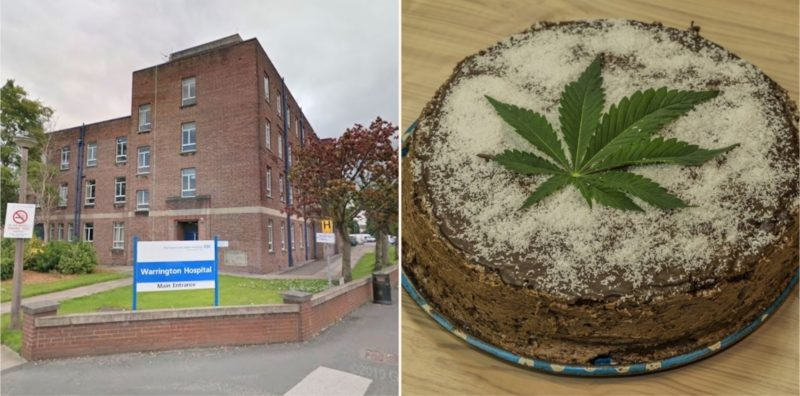 Nurses 'off their faces' after Granddad brings cannabis infused cake into hospital