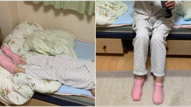 Innocent nan puts on 'thermal socks' – not realising they're for something else